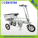 Chinese hot sale Folding electric tricycle 3 wheel bicycle