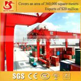Rail mounted 40 feet container double beam gantry crane with spreader