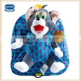 2015 New arrive nova brand kids school bag with plush mouse toys on the back chlidren bag