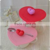 lovely heart shape,silicone lids for cups,coffee cups silicone lid,silicone coffee cup cover ,silicone mug cover