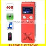 Support Telephone Recording Monitor & Recording and Hearing Aid & VOR Voice Built-in 4GB Memory Digital Voice Recorder