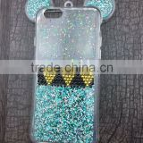 Hot Sale Fashion 3D Mickey mouse Case For iPhone6 6s 6plus 6splus Rhinestone ears Soft Transparent TPU Glitter phone