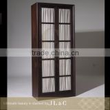 Luxury Solid Wood Cocktail Cabinet-AH12-82 Bookcase With Curtain Window- JL&C Furniture