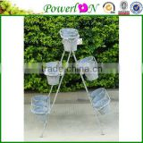 Sale Antique Novelty Wrough Iron 3 Tier Metal Planter Pot For Garden Backyard Home Patio I23M TS05 X00 PL08-5880
