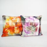 Decorative home sofa bed cushion covers floral designs backrest pillow cover velvet throw pillows