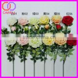 natural touch 3 heads wholesale artificial red silk rose