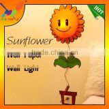 New Handmade Nice Sunflower Style Wall Paper Energy Saving night light in baby room