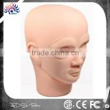 Tattoo Silicone Permanent Makeup Mannequin Head ,Permanent Makeup Practice Skin 3D Rubber Tattoo Practice Skin