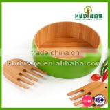 High quality colorful bamboo bowl,lacquer salad bowl wholesale