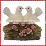 White Birds and Pink Flowers of artificial birds for crafts