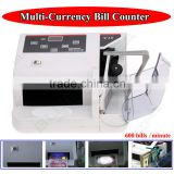 Bank Note Multi-currency Bill Counter Detector Money Fast Counting 100-240V W/UV