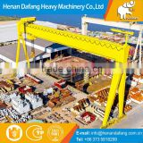 High Quality Movable Cabin Double Beam Trolley Ship Building Gantry Crane