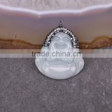 Natural Jade Pendant, Buddha Pendant, Gem stone Druzy Pendant For Jewelry Making
