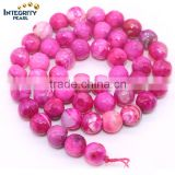 Natural gemstone loose strand 6 8 10 12mm round shape faceted red agate gemstone beaded chain wholesale