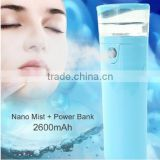Handy Mist Spray Atomization Facial Humectant Moisturizer Power Bank 2600mAh Mobile Power