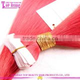 Top quality virgin remy brazilian skin waft tape hair extension color red skin weft tape remy hair extensions
