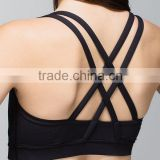Women Sport Bra Beautiful Back Cross Professional Sport Bra Running Sport Bra Moisture Absorption the bra breathable