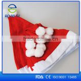 2015 New Products Christmas Hat Plush Red and White Santa Claus Caps Hat