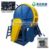 factory price tires recycling shredder machine / tire shredder + crusher