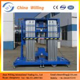 Hydraulic double mast aluminum alloy aerial working lift