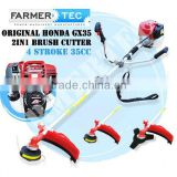 GENUINE HONDA GX35 4 STROKE 35CC ENGINE POWERED 2 IN 1 PRO BRUSH CUTTER GRASS STRIMMER GARDEN LINE TRIMMER TOOL