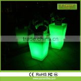 Outdoor solar led plant pot light/ outdoor led luminous planter pots/ flower lamp light pot outdoor