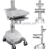 Medical Trolley workstation for laptop and notebook mount Powered Mobile Cart