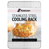 Cooling Rack by Keetzen 100% Real Stainless Steel 12 Inch x 17 Inch for Baking, Roasting & Decorating with Cross Wire Grid Patte