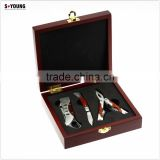 44061 high quality lockback knife set multi plier with wooden box