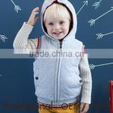 2015 fashion children's hooded thicken padding vest autumn/winter waistcoat for 2 -12 years old kids factory price