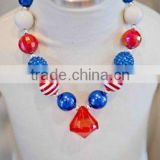 4th of july jeweled necklace now in stock popoular babys necklace is this year