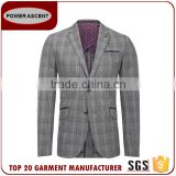 New Product Checked 2 Button Polyester Viscose Business Men'S Fashion Simple Suit Designs