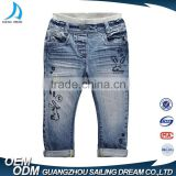 Wholesale high quality children jeans pants spring and autumn new kids new pattern jeans with embroidery decoration