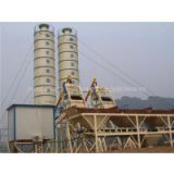Manually-operated concrete mixing plant