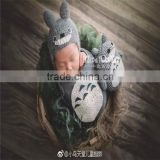 Knit Dragon Cat Bonnet and Toys Baby Boy Outfit Crochet Animal Dolls Knit Toys PhotographY Props
