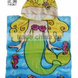 Hooded Towel for Kids Toddlers Bath Wrap Beach Poncho with Hood Cover Up Robe Baby Princess