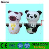 Panda shaped inflatable cartoon animal bop bag inflatable punching bag with water base