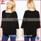 Wrap Front Woven Top Wholesale Blank Maternity T Shirts