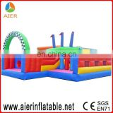 2015 new design inflatable rugged warrior challenge/obstacle course bouncy castle