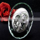 """Sacred Family"" Crystal Glass Plaque"