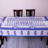 Indian Block Print dining Table cover with napkin for six seater Pcs table. Multi color Block print Table Cloth, Table Cover