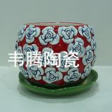 Top  flower garden  ceramic flower pot  and saucer panter