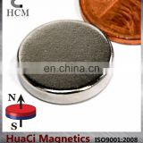 "N45 Disc Neodymium Magnet Dia 5/8""X1/8"" NdFeB large rare earth magnets"