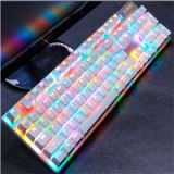 Ajazz ROBOCOP Wired RGB Blacklight Mechanical Keyboard Black Switch 104 US Layout