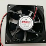 CNDF from zhejiang province chian factory provide 12VDC 80x80x25mm dc brushless cooling fan TFS8025H12