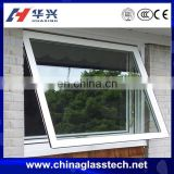 China top brand factory supply better ventilation clear glass aluminum alloy frame toilet window