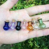 Mini Glass Bottles Ball Shape Cute Bottles With Cork Colors Vials Gift Tiny Wishing Jars Bottles Mix 7 Colors
