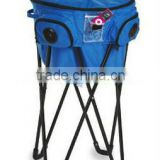Promotional new design Circular solid Blue insulated bag ice bucket with speakers