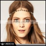 Wholesale Geometric Gold Headband Bridal Hairband Boho Head Piece Hair Crown                                                                         Quality Choice