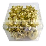 Fashional 13 Loops Gold Solid Poly Plain Star Ribbon Flowers and Star Bows for Decoration Christmas,Holiday,Party,Easter